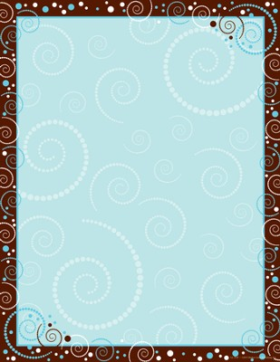 Hot to Dot Swirl Paper  -