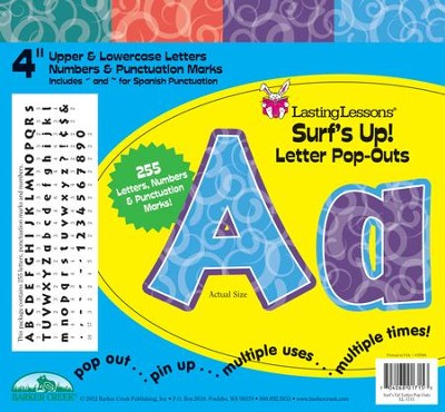 Surf's Up Letter Pop-Outs  -