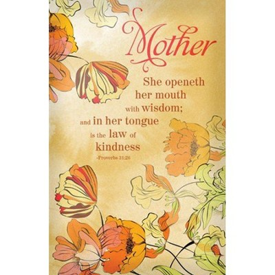 Mother (Proverbs 31:30) Bulletins, Pkg. of 100    -