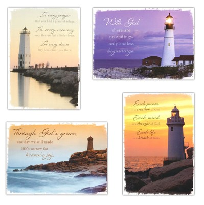 Everlasting Light, Box of 12 Assorted Sympathy Cards  -