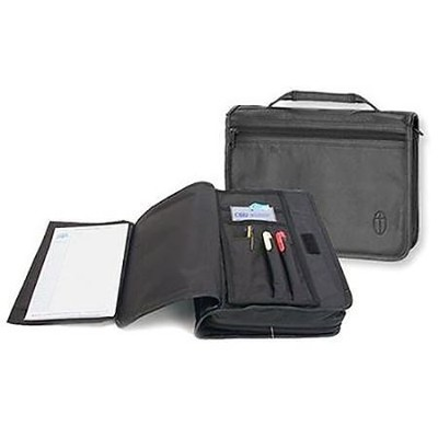 Wordkeeper &#174 Canvas Organizer Bible Cover, Black, Large  -