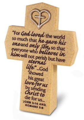 For God So Loved Cross with Heart  -