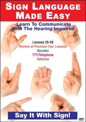 Sign Language Series Lessons 25-28: Decoder Devices DVD  -
