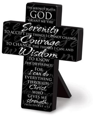 Serenity Prayer Cross  -