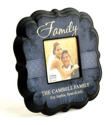 Personalized, Family 4X4 Photo Frame, Blue   -