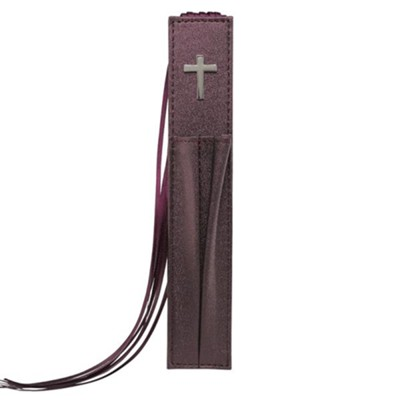 Cross, Lux-Leather Bible Bookmark, Purple  -