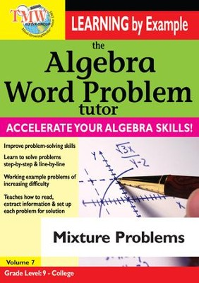 Algebra Word Problem: Mixture Problems DVD  -