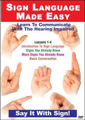 TMW Media Sign Language Lessons 1-4: Introduction, Signs You Already Know, More Signs You Already Know, Basic Conversation--DVD  -