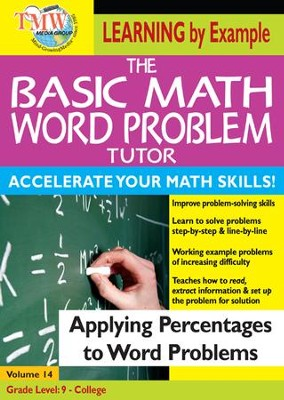 Basic Math Word Problem Tutor: Applying Percentages to Word Problems DVD  -
