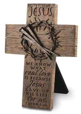 Jesus Crown Desktop Cross, Small  -