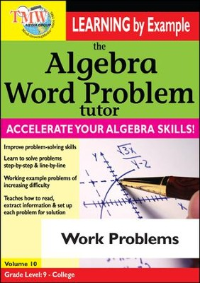Algebra Word Problem: Work Problems DVD  -