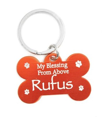 Personalized, Dog Tag, My Blessing From Above, Red Keyring  -