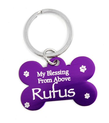 Personalized, Dog Tag, My Blessing From Above, Purple    -