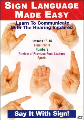 Sign Language Series Lessons 13-16: Time, Numbers & Sports DVD  -