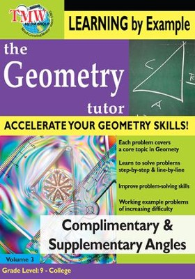 Complimentary & Supplementary Angles DVD  -
