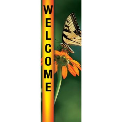 Welcome - June (Summer) Fabric Banner (2' x 6')   -
