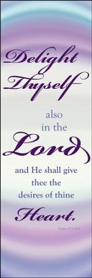 Delight Thyself in the Lord Fabric Banner (2' x 6')   -