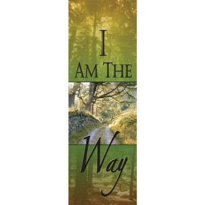 I Am the Way Fabric Banner (2' x 6')   -