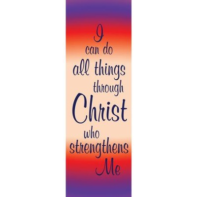 I Can Do All Things Fabric Banner (2' x 6')   -
