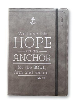 We Have This Hope As An Anchor Lux-Leather Journal, Black  -