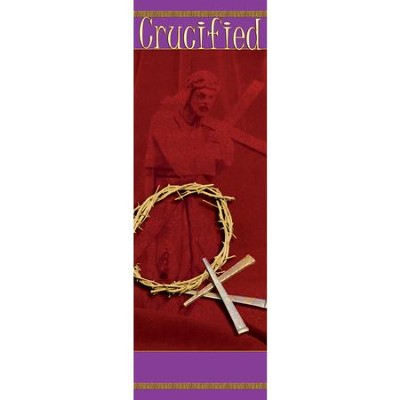 Crucified Fabric Banner (2' x 6')   -