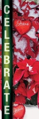 Celebrate - Christmas Fabric  Banner (2' x 6')   -