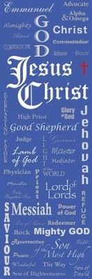 Names of Jesus Fabric Banner (2'x 6')   -