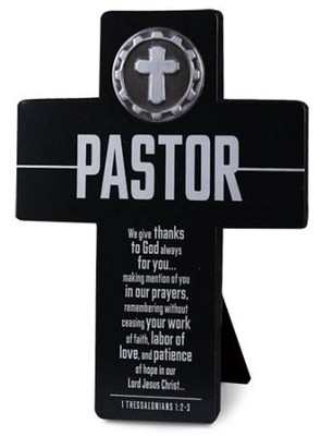 Pastor Cross with Cross Medallion  -