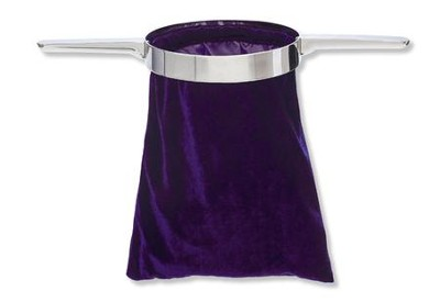 Purple Offering Collection Bag with Handle  -