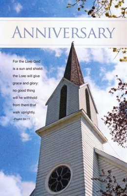 A Sun and Shield (Psalm 84:11), Church Anniversary  Bulletins, 100  -