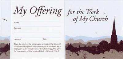 My Offering for the Work of My Church (1 Chronicles 29:6-7) 52 Envelopes  -