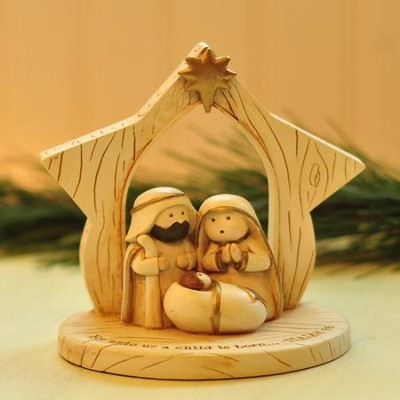 A Child Is Born Whimsical Nativity  -