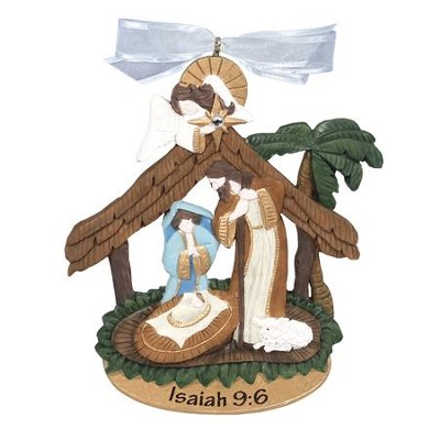 Nativity Manger Ornament  -