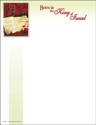 Noel, Noel, Born Is The King Of Israel, Letterhead, 100  -