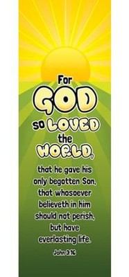 For God So Loved the World (John 3:16) Bookmarks, 25  -