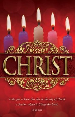 Christ (Luke 2:11) Advent Bulletins, 100  -