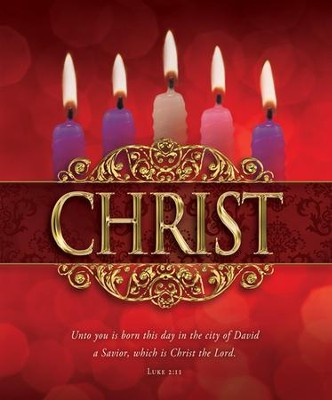 Christ (Luke 2:11) Large Advent Bulletins, 100  -