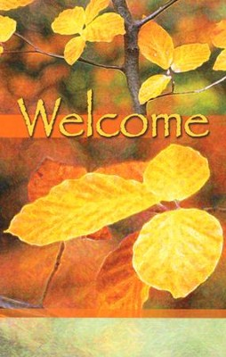Welcome (Leaves) Pew Cards Package of 25  -