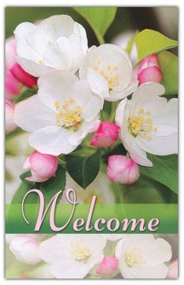 Welcome (Flowers), Welcome Pew Cards Package of 25  -
