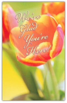 We're Glad You're Here, Welcome Pew Cards Package of 25  -