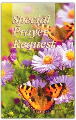 Special Prayer Request (Flowers) Pew Cards Package of 25  -