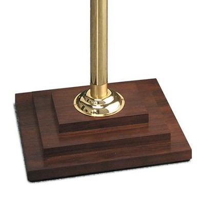 Chapel Series Solid Walnut Base With Brass Pole  -