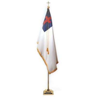 Deluxe Christian Flag 5' x 3' (indoor)   -