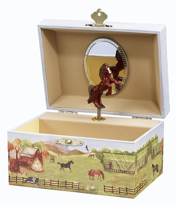 Country Horse Jewelry Box  -