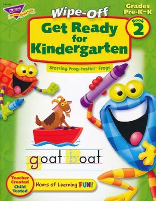 Get Ready for Kindergarten Wipe-Off Book 2   -
