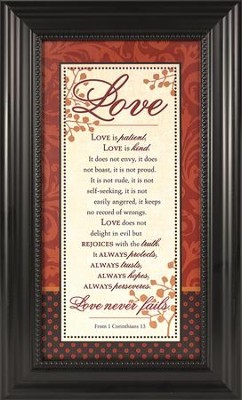 Love Is Patient Framed Print  -