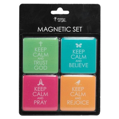 Keep Calm Magnets, Set of 4  -