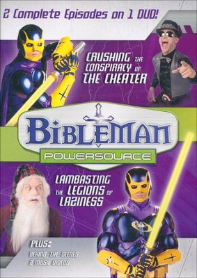 Bibleman Powersource: Crushing the Conspiracy of the Cheater /  Lambasting the Legions of Laziness, DVD  -