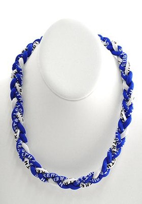 His Armor Titanium Sports Necklace, Blue & White   -