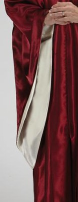 Choir Robe, Burgundy / Ivory (Medium Short)   -